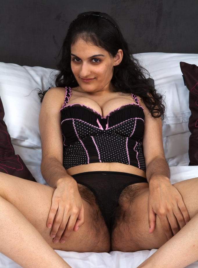 Slutty Indian showing her Nude Hairy Pussy